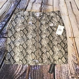 NWT BLANK NYC snake print miniskirt faux leather